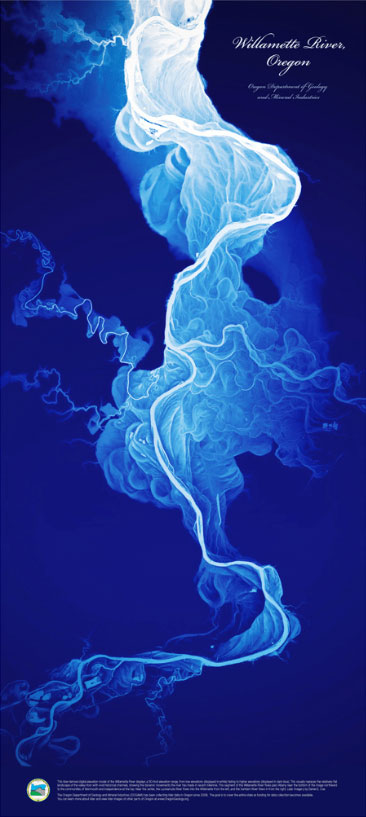 Willamette Stream Channels Poster
